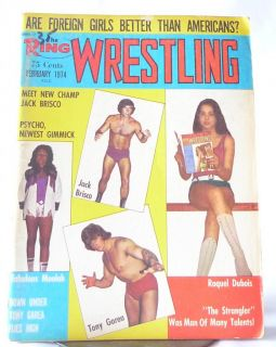 Ring Wrestling Magazine February 1974 Jack Brisco Tony Garea PINUPS