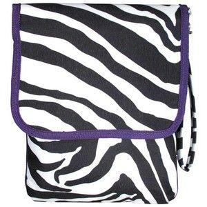 Purple Zebra iPad Kindle Carrying Case Tote Bag eReader Tablet Thirty