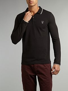 Firetrap Classic long sleeved polo shirt Black