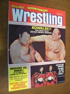 Inside Wrestling Magazine Killer Kowalski Bruno Bruiser Sheik