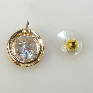 New Designer CC Logo Gold Rhinestone Earrings by Liza Kim