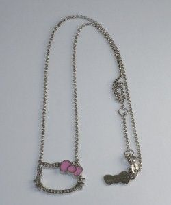 Kimora Lee Simmons White Sapphire Hello Kitty Sihouette Necklace