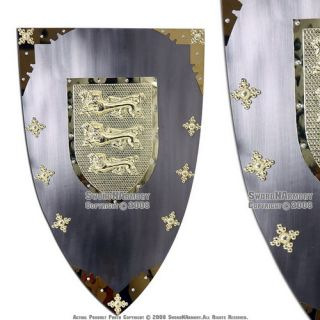 Richard The Lionheart Medieval Knight Shield Armor New