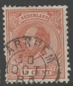 Netherlands 27 King William /// 1872 15 cents  SON Cancel