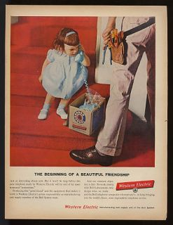 1960 Western Electric Bell Little Girl New Phone Ad