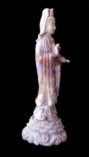 Chinese Quan Yin Kwan Yin Carving Statue Hand Carved Purple Jadeite
