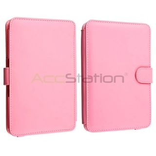 For eBook  Kindle 3 3G Keyboard Premium Pink Leather Case Cover