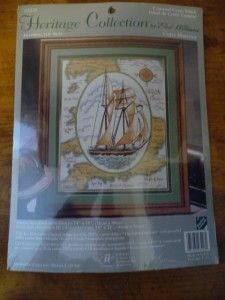 Collection MAPPING THE SEAS Counted Cross Stitch Kit NIP Elsa Williams