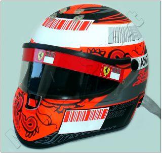 Kimi Raikkonen F1 2008 Ferrari Schuberth RF1 Replica Helmet Scale 11
