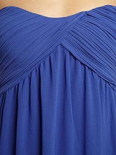 True Decadence Ruched bandeau maxi dress Blue