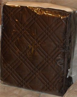 Ralph Lauren Venetian Court Regent Dark Brown King or Queen Quilt New