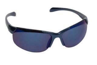 Real Kids Shades Blade Sunglasses Blue Shiny Metallic Frame 7 12