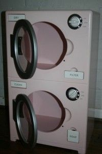 Pottery Barn Kids Retro Kitchen Washer Dryer Pink RARE Will SHIP