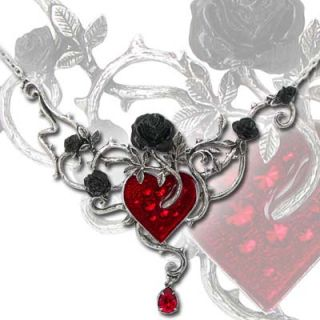 Alchemy Gothic Bed of Blood Roses Tangled Emotions Swarovski Crystal