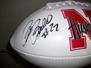 Nebraska Cornhuskers Rex Burkhead Signed Autographed Football PSA DNA