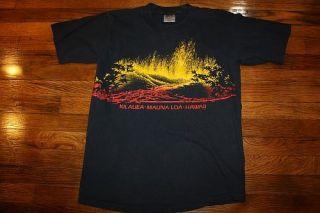 Vtg 90s Hawaii Volcano T Shirt Kilauea Mauna LOA