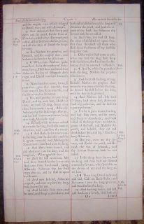 1660 King James Elephant Folio Bible Leaf Beautiful Red Ruled