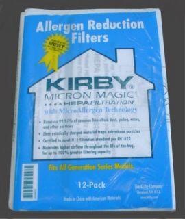 12 Pack HEPA Bags for Kirby Vacuum All G Models Bag