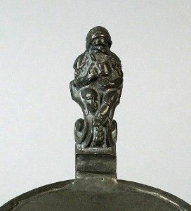 German Mettlach 1479 Etched Gnomes Making Wine Lidded Beer Stein