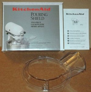 Kitchen Aid Pouring Shield Two Piece Clear Plastic