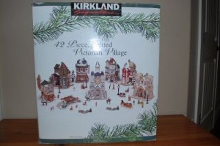 Kirkland Signature 42 Piece Lighted Victorian Christmas Village