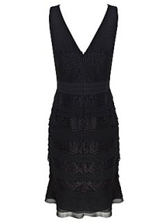 Alexon Black lace layer dress Black