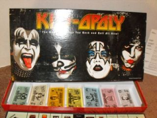 Vintage Kiss Opoly Monopoly Game Kiss Opoly Complete