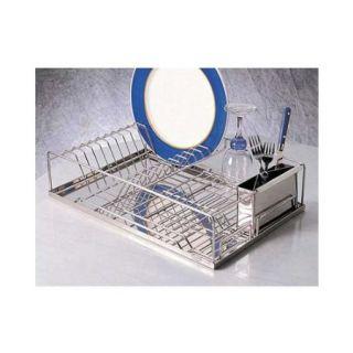 RSVP Dish Drying Rack Drainer Holder Kitchen Strainer 18 10 Stainless