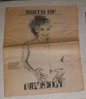 of Tragedy Music Fanzine Newspaper Russ Meyer Kitten Natividad