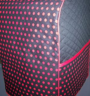 Red Polka Dots on Black Quilted Cover for KitchenAid Mixer New
