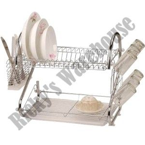 Cookinex Dish Drying Rack Drainer Dryer with Tray Kitchen Storage