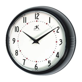 New Round Retro Black Metal Novelty Kitchen Wall Clock