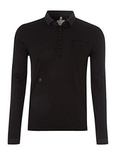 Peter Werth Arnold long sleeved polo shirt Plum