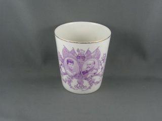 King Edward VII Coronation Beaker Purple Royal Doulton C 1902