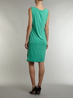 Love Moschino Sleeveless wrap dress with ruffle detail Green