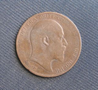 British King Edward VII 1903 One Penny Coin