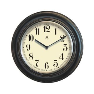 New Traditional Round Wood Black Kitchen Wall Clock