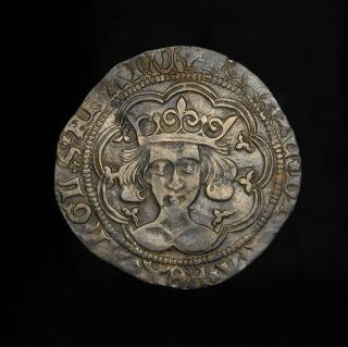 English Medieval Silver King Henry VI Groat Coin EX Brackley Hoard