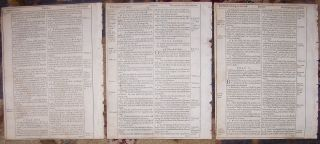 1613 King James Quarto Roman Letter Bible Leaves Exodus Psalms Daniel