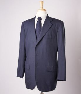 7995 KITON Napoli Navy Blue Mini Houndstooth 100% Cashmere Suit 42 R