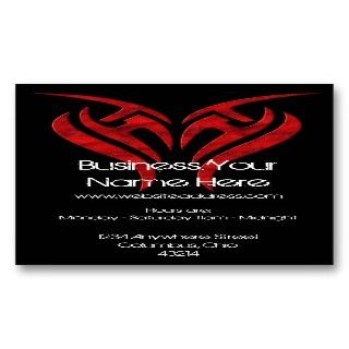Red Tattoo Design :: Grunge/Tattoo Business Card