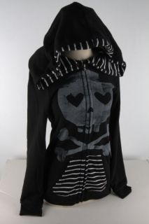 Abbey Dawn Juniors Black Heartcore BFH Zip Hoodie 1796