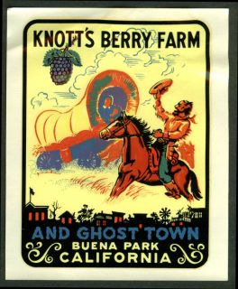 Knotts Berry Farm Ghost Town Auto Window Decal 1950s Buena Park CA