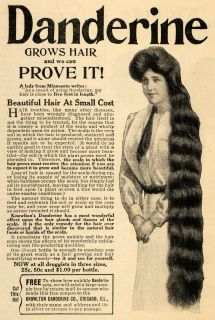 1910 Ad Knowlton Danderine Company Grows Hair Product   ORIGINAL