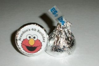 Elmo Sesame Street Birthday Party Favors Hershey Kiss Labels