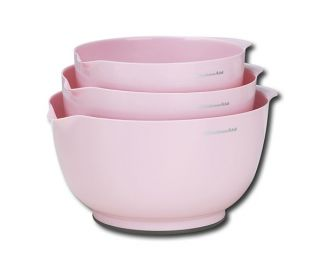 KitchenAid Cook for The Cure 3 PC Mixing Bowl Set Pink