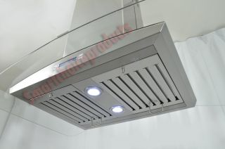 30 Kitchen Island Mount Stainless Steel Range Hood w 2 Filters Vent s