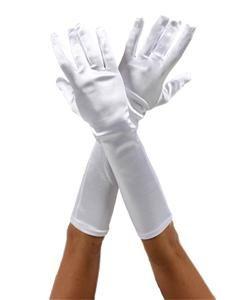 White Satin Gloves Vampire Princess Halloween Costume Gloves