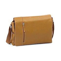 New Kluge Tan Leather Messenger Bag