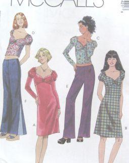 Girls Knit Dress Top Below Waist Pants Sewing Pattern Contrast Godets